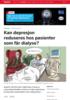 Kan depresjon reduseres hos pasienter som får dialyse?