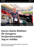 Karen-Marie Ellefsen får Kongens fortjenstmedalje: - Jeg er målløs