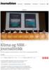Klima og NRK-journalistikk