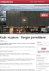 Kode museum i Bergen permitterer