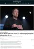 Kunstig intelligens: Elon Musk advarer mot å la teknologikjempene gjøre som de vil