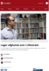 Lager afghansk avis i Lillestrøm