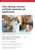 Liten økning i koronasmittede pasienter på sykehusene