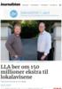 LLA ber om 150 millioner ekstra til lokalavisene