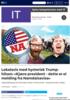 Lokalavis med hysterisk Trump-hilsen: Kjære president - dette er ei melding fra Namdalsavisa