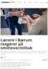 Lærere i Bærum reagerer på smitteverntiltak