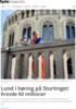 Lund i høring på Stortinget: Krevde 60 millioner