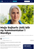 Maja Sojtaric (40) blir ny kommentator i Nordlys