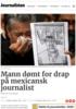 Mann dømt for drap på mexicansk journalist
