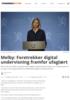 Melby: Foretrekker digital undervisning framfor ufaglært
