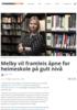 Melby vil framleis åpne for heimeskole på gult nivå