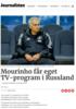 Mourinho får eget TV-program i Russland