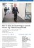 Nei til stor evaluering av norsk Israel og Palestina-politikk