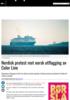 Nordisk protest mot norsk utflagging av Color Line