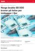 Norge brukte 68 000 kroner på helse per innbygger i fjor