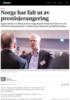 Norge har falt ut av prestisjerangering