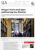 Norge i front med åpen publisering hos Elsevier