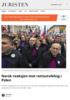 Norsk reaksjon mot rettsutvikling i Polen