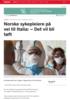 Norske sykepleiere på vei til Italia: - Det vil bli tøft