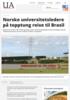 Norske universitetsledere på topptung reise til Brasil