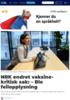 NRK endret vaksine-kritisk sak: - Ble feilopplysning