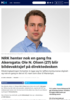 NRK henter nok en gang fra Akersgata: Ole N. Olsen (27) blir bildevaktsjef på direktedesken
