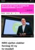 NRK-sjefen slakter forslag til ny tv-modell