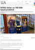 NTNU deler ut 105 000 tøymunnbind