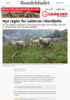 Nye regler for saltbruk i Nordfjella