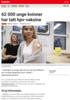 Nyheter 62 000 unge kvinner har tatt hpv-vaksine
