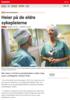 Nyheter Heier på de eldre sykepleierne