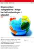 Nyheter Ni prosent av sykepleierne i Norge har tatt utdanningen i utlandet