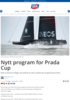 Nytt program for Prada Cup