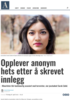 Opplever anonym hets etter å skrevet innlegg