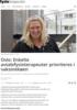 Oslo: Enkelte avtalefysioterapeuter prioriteres i vaksinekøen