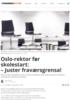 Oslo-rektor før skolestart: - Juster fraværsgrensa!