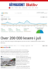 Over 200 000 lesere i juli
