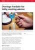 Overlege fraråder for tidlig meslingvaksine