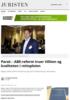 Parat: - ABE-reform truer tilliten og kvaliteten i rettspleien