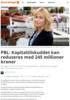 PBL: Kapitaltilskuddet kan reduseres med 245 millioner kroner
