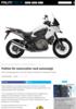 Politiet får motorsykler med automatgir