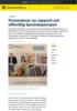 Presenterer ny rapport om offentlig tjenestepensjon