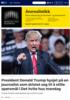 President Donald Trump hysjet på en journalist som dristet seg til å stille spørsmål i Det hvite hus mandag