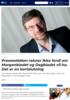 Pressestøtten rakner ikke fordi om Morgenbladet og Dagbladet vil ha. Det er en kortslutning