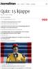 Quiz: 15 kjappe