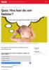 Quiz: Hva kan du om fødsler?