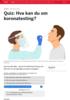 Quiz: Hva kan du om koronatesting?