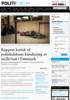 Rapport kritisk til politiledelsens håndtering av asylkrisen i Finnmark