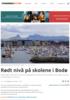 Rødt nivå på skolene i Bodø