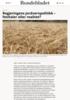 Regjeringens jordvernpolitikk - festtaler eller realitet?